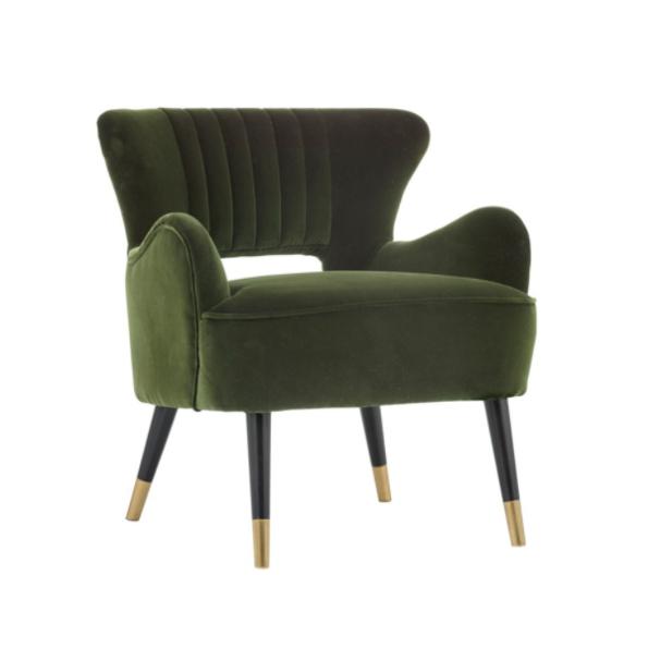 Tours accent chair cabernet green