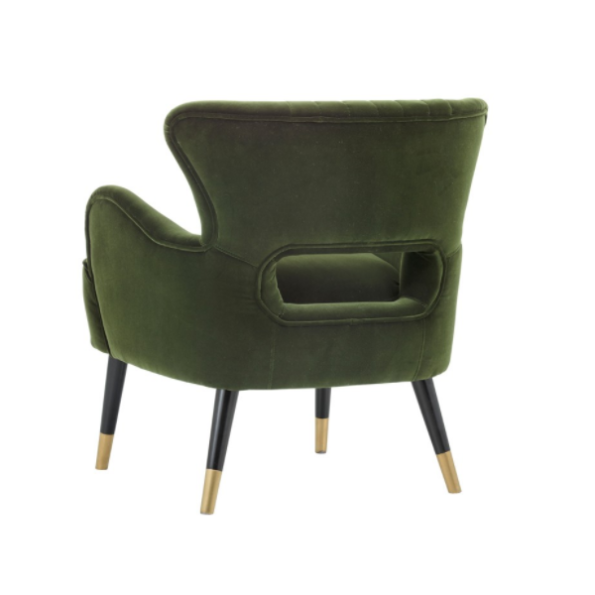 Tours accent chair cabernet green back
