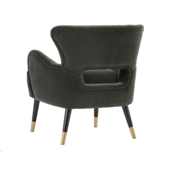 Tours accent chair cabernet grey back