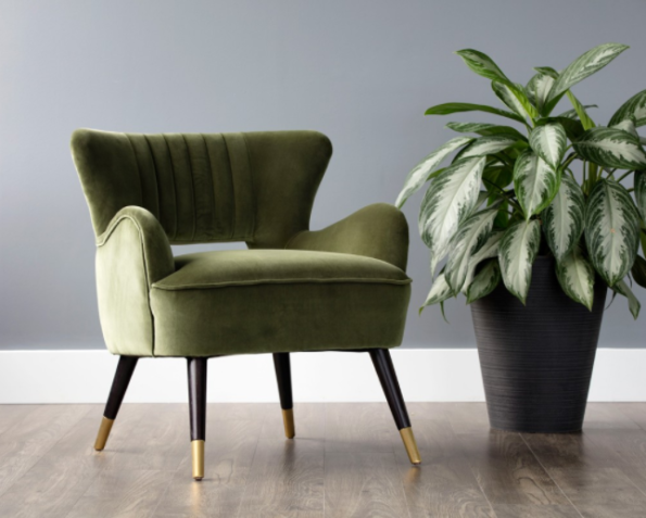Tours accent chair green picture