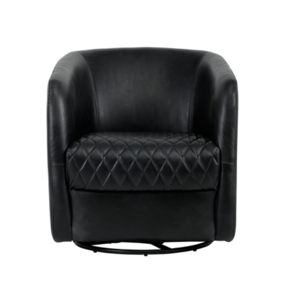 Winchester Accent Chair Black front