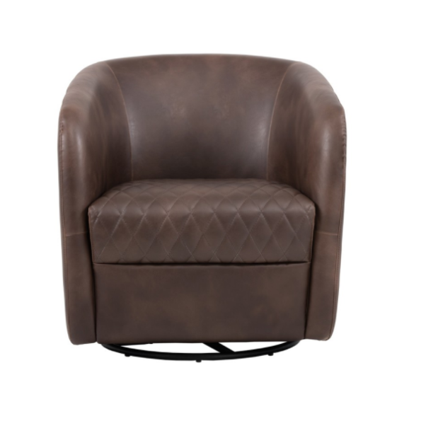 Winchester Accent Chair Brown front