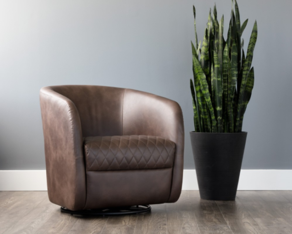Winchester Accent Chair Brown pic