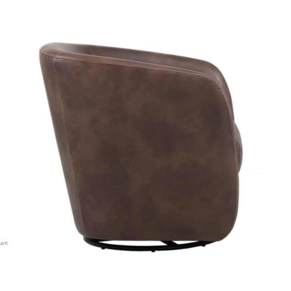 Winchester Accent Chair Brown side