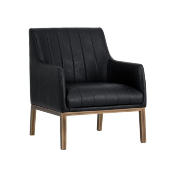 cardiffe black accemt chair