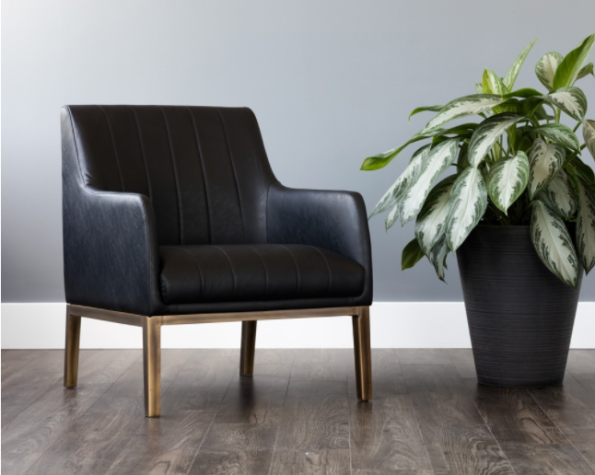 cardiffe black accemt chair pic