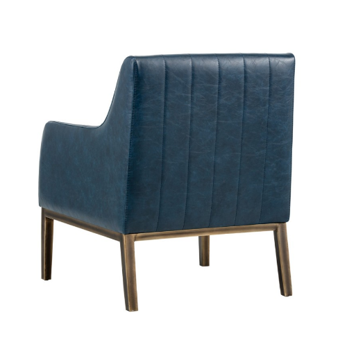 Holden Lounge Chair Blue Back