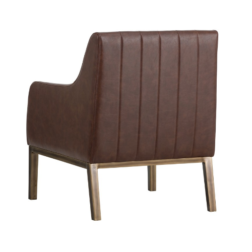 Holden Lounge Chair Blue Brown Back