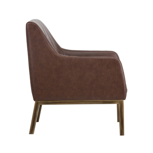 Holden Lounge Chair Blue Brown Side