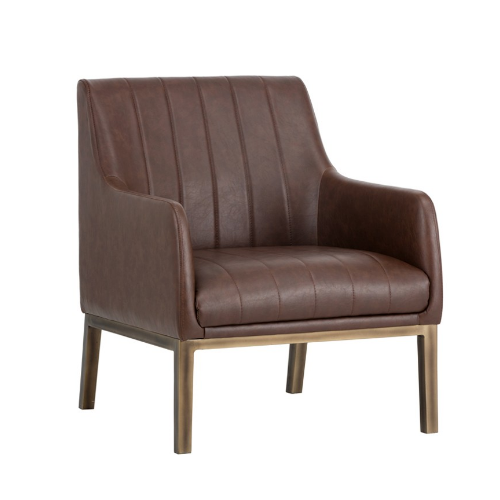 Holden Lounge Chair Blue Brown