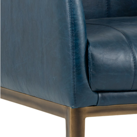 Holden Lounge Chair Blue Close Seat