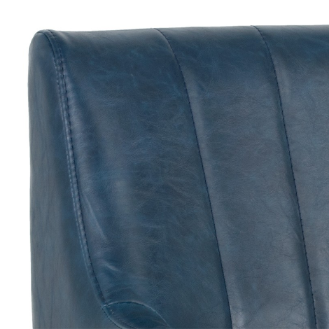 Holden Lounge Chair Blue Close front