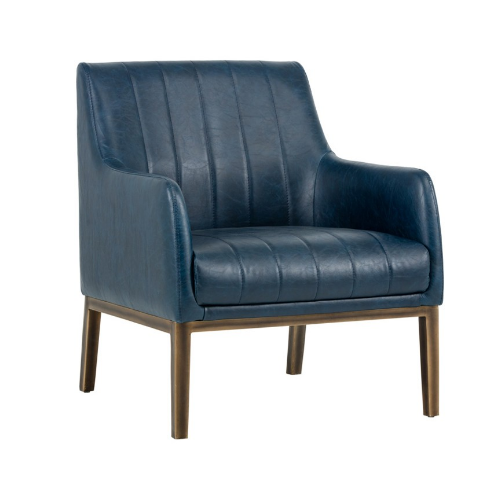 Holden Lounge Chair Blue Front