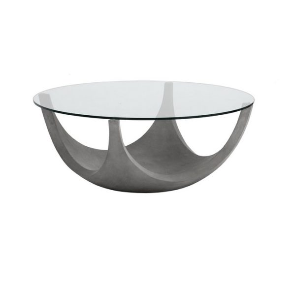concrete base coffee table