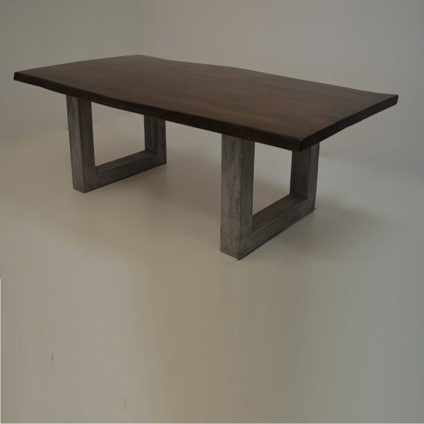 Carlos table with cement base