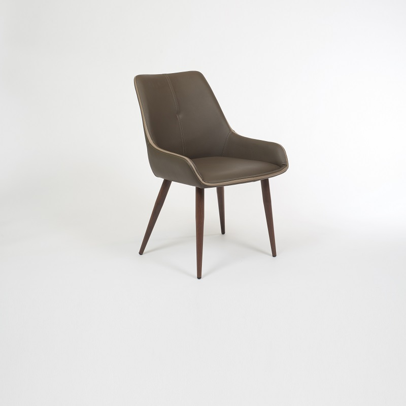 Etna Dining Chair With Walnut Legs Mikaza Meubles